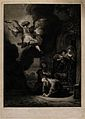 Raphael ascending from the house of Tobit. Etching by V.D. V Wellcome V0034461.jpg