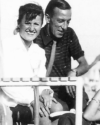 Raymond Bussières - Annette Poivre and Raymond Buissière in 1948