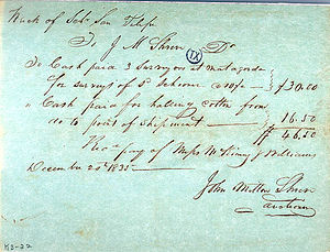 San Felipe incident (1835) - A receipt dated December 20, 1835 concerning the wreck of the San Felipe.