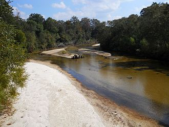 Red Creek (Mississippi) - Red Creek channel contains numerous white sand bars
