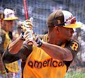 Red Sox shortstop Xander Bogaerts takes batting practice on Gatorade All-Star Workout Day. (28630086476).jpg