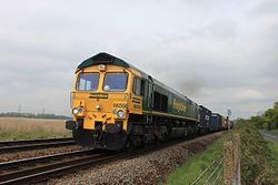 Redbridge - Freightliner 66558 Leeds to Southampton diverted.JPG