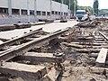 Reko TT Anděl - Sídliště Řepy, Vozovna Motol, vytrhané koleje.jpg