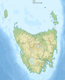Map showing the location of South East Cape