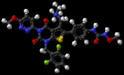 Relugolix molecule ball.png