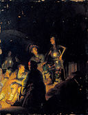 Rembrandt - Nocturnal biblical scene - Japan.jpg