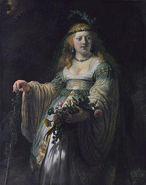 Portrait of Flora Rembrandt van Rijn, 1635