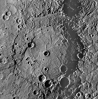 Rembrandt (crater) crater on Mercury
