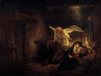 Gemäldegalerie, Berlin - Joseph's dream, Rembrandt, c. 1645