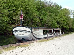 Restored canal boat, Ohio and Erie Canal.JPG
