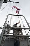 Retiring U.S. Navy Captain's flag is flown aboard USS Bonhomme Richard 170112-N-XT039-072.jpg