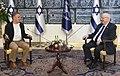 Reuven Rivlin being interviewed by Uri Yitzhaki from Shavvim website, December 2020 (GPOMN1 1512).jpg