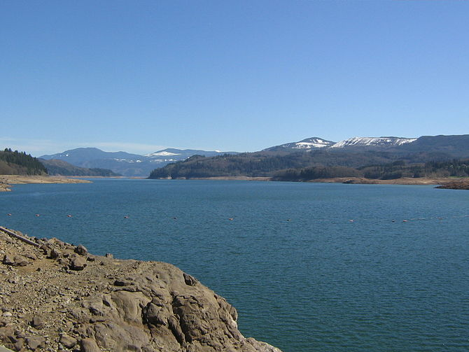 Riffe Lake, taken from U.S. Route 12
