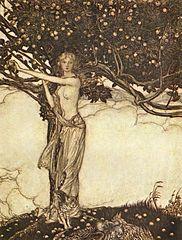 Freia, from Das Rheingold, with the tree of golden apples