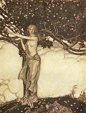 Golden apple - Freia, from Das Rheingold, with the tree of golden apples