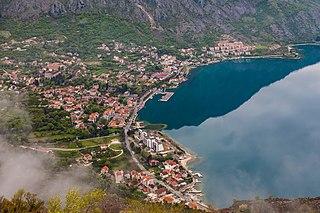 Risan Town in Kotor Municipality, Montenegro