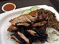 Roast pork and Char Siu Rice, Singapore September 2017.jpg