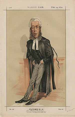 Robert Collier, 1st Baron Monkswell - Sir Robert Collier, in a Vanity Fair caricature of 1870
