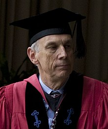 Robert O Keohane at Shimer College graduation 2012 close.jpg