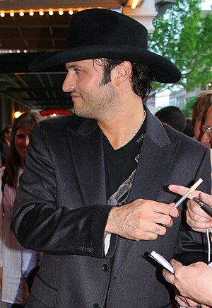 English: Filmmaker Robert Rodriguez at the pre...