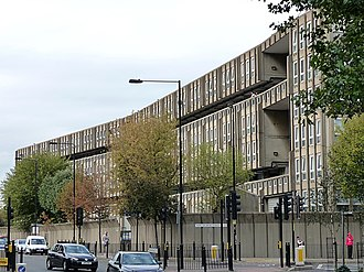 Robin Hood Gardens - The west side (outer side) of the west block