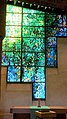 """Robinson College Chapel choir Piper stained glass window, """"Light of the World"""" (4766940629).jpg"""