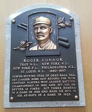 Roger Connor - Plaque of Roger Connor at the Baseball Hall of Fame