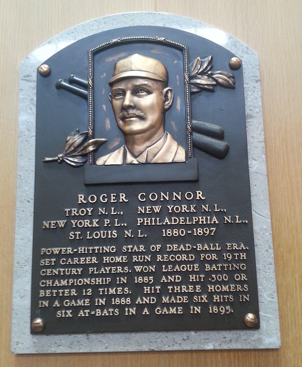 Roger Connor plaque