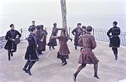 Georgian dancers performing Perkhuli in 1965