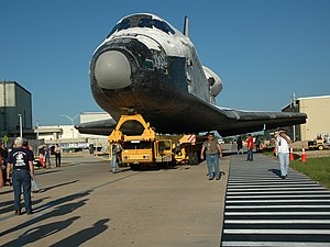 STS-115 - Atlantis is rolled over from the OPF