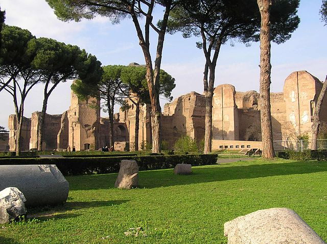 Termas de Caracalla en la actualidad. Fuente: Wikipedia