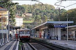 Roma San Pietro train station FCU ALn 776 October 2012.jpg