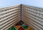 Roof detail of Cardboard Cathedral, Christchurch, New Zealand 02.jpg
