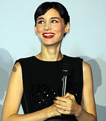 Rooney Mara at the Paris premiere of film The Girl with the Dragon Tattoo 2012.