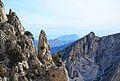 Roques i el Montgó al fons, la Serrella.JPG