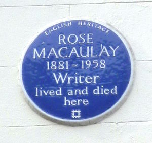 Rose Macaulay - Image: Rose Macaulay blue plaque, Hinde Street, London