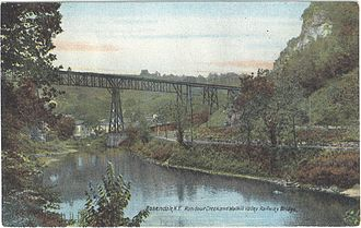 Rosendale Trestle - The trestle, spanning the former Delaware and Hudson Canal, as well as Rondout Creek
