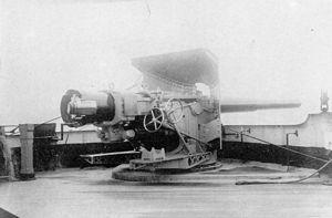 203mm 45 caliber Pattern 1892 - Aft sponson 203mm gun aboard the cruiser Rossia