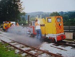 Derbyshire Dales Narrow Gauge Railway - Image: Rowsley narrow gauge line
