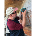 Roy Goodacre taking Raman measurements from the pigments found in Aboriginal Rock Art in the Kimberley, Australia during summer 2019.png