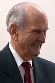 Russell M. Nelson, B.A. 1945, M.D. 1947, President of The Church of Jesus Christ of Latter-day Saints, past President of the Society for Vascular Surgery, past Director of the American Board of Thoracic Surgery