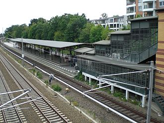 Anhalt Suburban Line - Südende station, re-opened in 1995