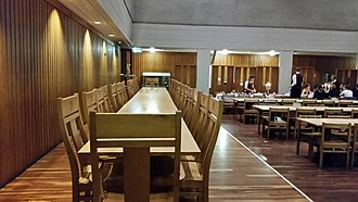 High Table - High Table in Dining Hall, Fitzwilliam College, University of Cambridge