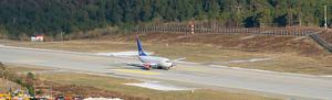 Kristiansund Airport, Kvernberget - Scandinavian Airlines Boeing 737