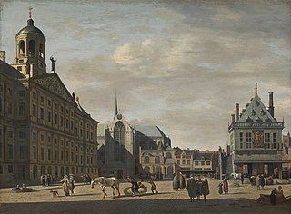 View of Dam Square, with the Old Weigh House