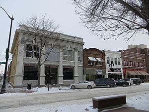 National Register of Historic Places listings in Brown County, South Dakota - Image: SD Aberdeen Comm HD First Natl Bankplus