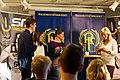 SM-veckan 2013 presskonferens 15 Calle Halfvarsson, Anna Haag, Sara Lindborg (Längdskidor) 4.jpg
