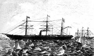 Caird & Company - SS Austria, launched on 23 June 1857