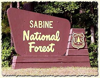 Sabine National Forest - Image: Sabine National Forest sign