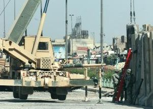 Siege of Sadr City - Image: Sadr city barrier teams 05082008